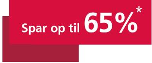 Spar op til 65%*